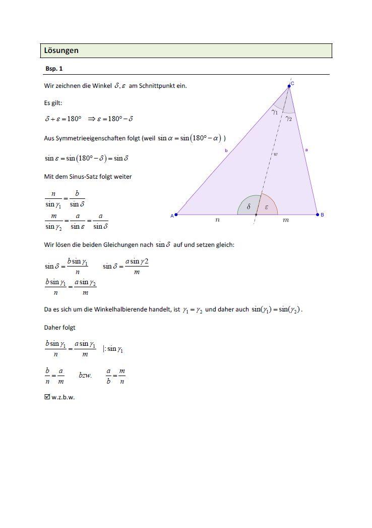 Beispielblatt Mathematik