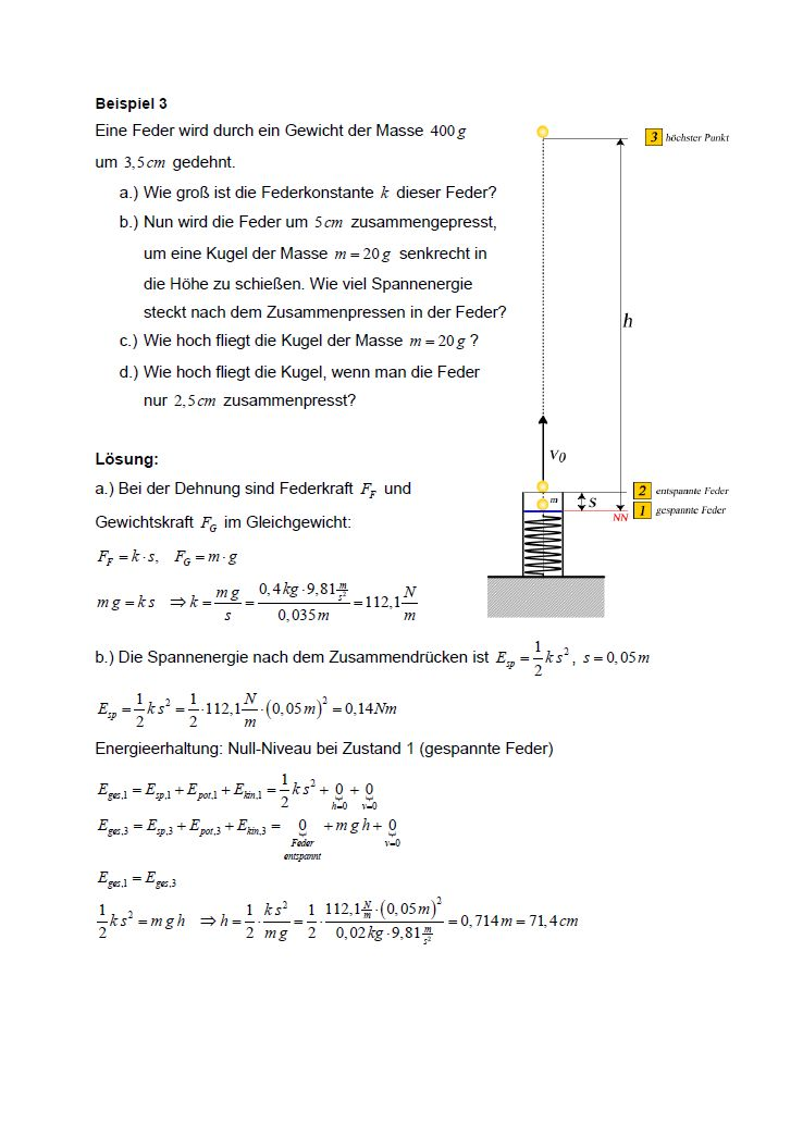 Beispielblatt Physik