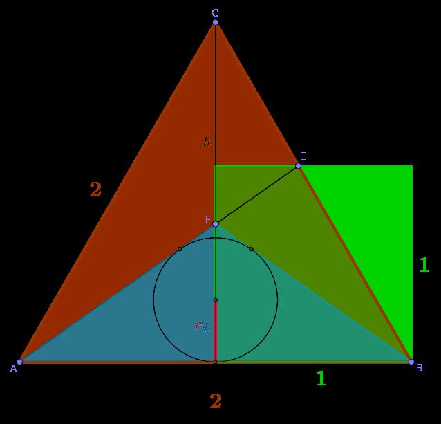 Gleichseitiges Dreieck und Quadrat